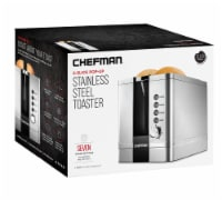 Chefman Stainless Steel 2-Slice Pop-Up Toaster