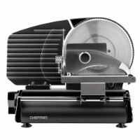 Chefman Stainless Steel Die-Cast Electric Quick Release Meat Slicer - Black