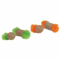 Kylies Brights Assorted Raffia Spool and Ball with Feather Raffia Cat Toy Large 1 - Case Of: