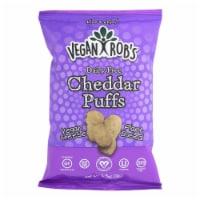 Vegan Rob's Dairy Free Puffs - Cheddar - Case of 12 - 3.5 oz - Case of 12 - 3.5 OZ each
