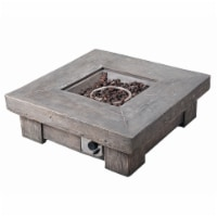Peaktop Firepit Outdoor Gas Fire Pit Wooden With Lava Rock & Cover HF11501AA