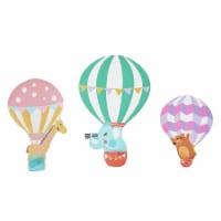 Fantasy Fields Kids Wooden Wall Hooks Set Of 3 Décor Hot Air Balloons TD-13125A