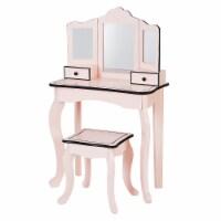 Fantasy Fields Kids Little Lady Gisele Toy Vanity Set  Pink / Black TD-13028P