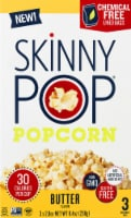 SkinnyPop Butter Flavor Microwavable Popcorn Bags 3 Count