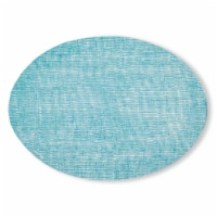 100% Silicon Placemat Oval Linen Seafoam - 1
