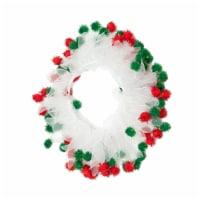 Midlee Christmas Pom Pom Decorative Dog Collar (Medium) - 1