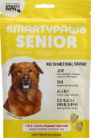 SmartyPants SmartyPaws Senior Multifunctional Support Peanut Butter Treats 60 Count