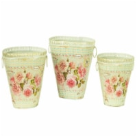 Dolce Mela French Country Planters Vintage Metal Decorative Vases & Flower Pots - 3