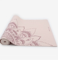 Oak and Reed Extra-Thick Non-Slip Yoga Mat, Blush Floral Medallion - 68 in x 24 in x 6mm