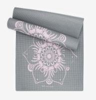 Oak and Reed Extra-Thick Non-Slip Yoga Mat, Grey Lotus - 68 in x 24 in x 6mm