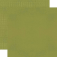Simple Stories Color Vibe Double-Sided Cardstock 12 X12 -Olive Bold - 1