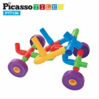 PicassoTiles PTT136 Tube Building Block w/ Musical Kit Pipes Puzzle Toy Set - 1
