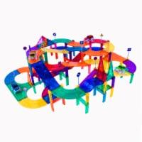 PicassoTiles® Magnetic Kids Toy Building Kit Race Track Set - 150 pc
