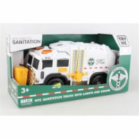 Daron Worldwide Trading NY206006 7 x 12 in. NYC Sanitation Garbage Truck with Lights & Sound