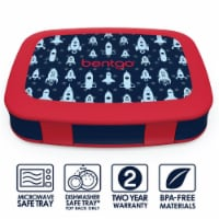 Bentgo Kids Durable & Leak Proof Rocket Children's Lunch Box - Red/Navy