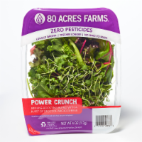 80 Acres Farms POWER Crunch Salad Blend Mix with Lettuce Kale Chard & Microgreens
