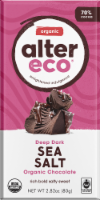 Alter Eco Organic Deep Dark Sea Salt Chocolate Bar