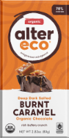 Alter Eco Organic Deep Dark Salted Burnt Caramel Chocolate Bar