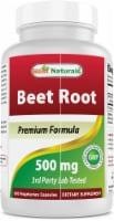 Best Naturals Beet Root 500 mg 180 Vegetarian Capsules - 1 Bottle