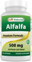 Best Naturals Alfalfa Green Super Food 500 mg 180 Capsules - 1 Bottle
