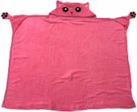 Bright Eye Blanket - Super Soft Hooded Blanket for Kids - Pink Cat - 1