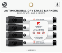 U Brands Antimicrobial Dry Erase Markers - Black