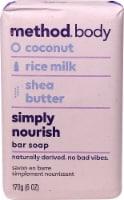 Method Body Bar Soap Simply Nourish Coconut Rice Milk Shea Butter