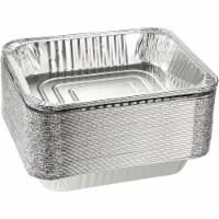 30PCS Aluminum Foil Pans Half-Size Deep Disposable Grill Drip Pans for Cooking - PACK