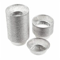 Aluminum Foil Pie Pans 100-Piece Round Disposable Tin Pans for Baking, Roasting