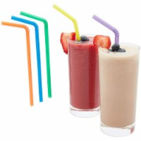 300ct Flexible Plastic Bendy Drinking Straws, Multiple Colors