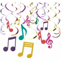 30 Pieces Swirl Decorations,  Music Decor Party, Hanging Musical Note Whirls - PACK