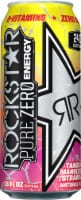 Rockstar Pure Zero Tangerine Mango Guava Strawberry Flavored Energy Drink
