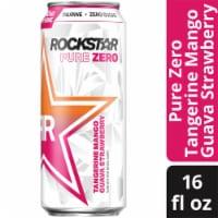 Rockstar Pure Zero Tangerine Mango Guava Strawberry Energy Drink - 16 fl oz