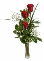 Triple Rose Bud Vase Arrangement