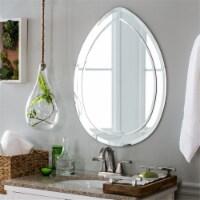 Decor Wonderland SSM404 Droplet Modern Bathroom Mirror - Silver - 1
