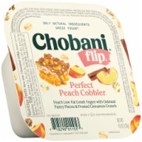 Chobani Flip Perfect Peach Cobbler Low-Fat Greek Yogurt