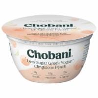 Chobani Less Sugar Clingstone Peach Greek Yogurt