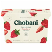 Chobani Strawberry on the Bottom Non-Fat Greek Yogurt 4 Count