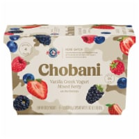 Chobani Mixed Berry on the Bottom Low Fat Vanilla Greek Yogurt