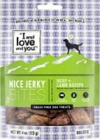 I and Love and You  Nice Jerky Bites   Beef Lamb Recipe - 4 oz