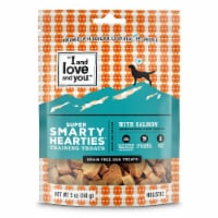 I and Love and You Super Smarty Hearties Salmon Grain Free Dog Training Treats