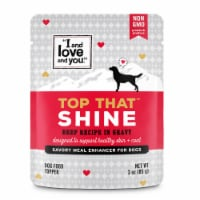 I and Love and You Top That Shine Beef Recipe in Gravy Meal Enhancer for Dogs - 3 oz