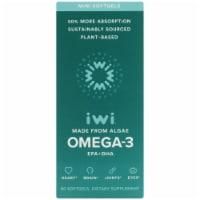 iWi Algae-Based Omega-3 Minis - 60 ct