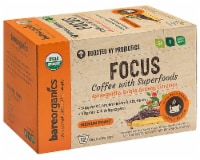 BareOrganics Focus Coffee with Superfoods Medium Roast Single Serve Cups