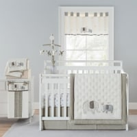 New Country Home 6056A 4 Piece Elephant Crib Bedding Set, 18 x 13 x 5.5 in. - 4