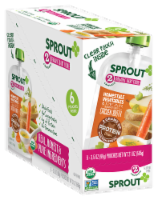 Sprout Homestyle Vegetables & Pear Seasoned with Chicken Broth Stage 2 Baby Food 6 Count