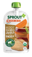 Sprout Organic Root Vegetables & Apple with Beef Stage 3 Baby Food