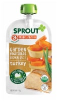 Sprout Organic Garden Vegetables Brown Rice with Turkey Stage 3 Baby Food