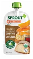 Sprout Organic Harvest Vegetables & Apricots with Chicken Stage 3 Baby Food Pouch