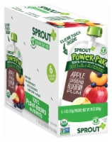 Sprout SuperBlend Apple Blueberry Plum Stage T Baby Food 6 Count